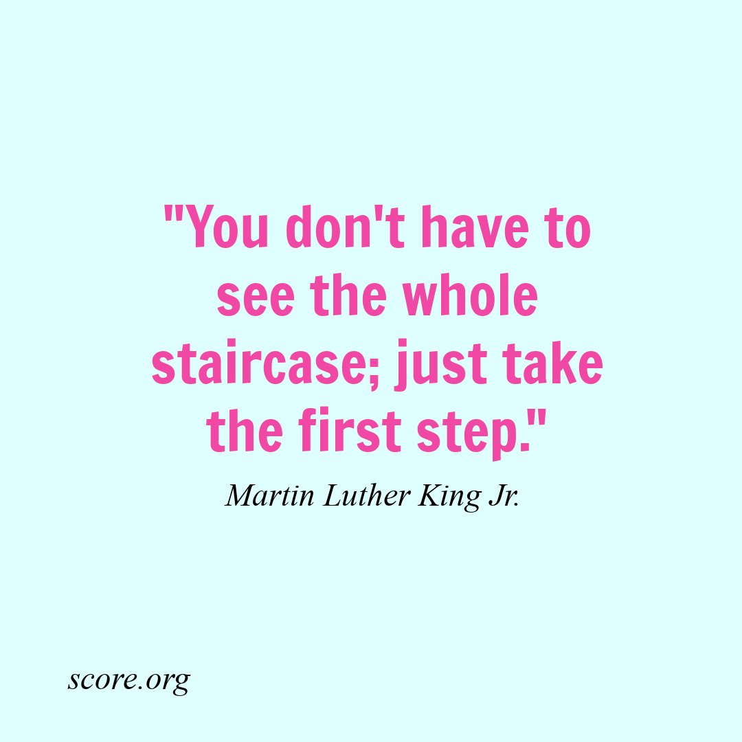 What first step are you taking toward #businesssuccess? #qotd #MLK