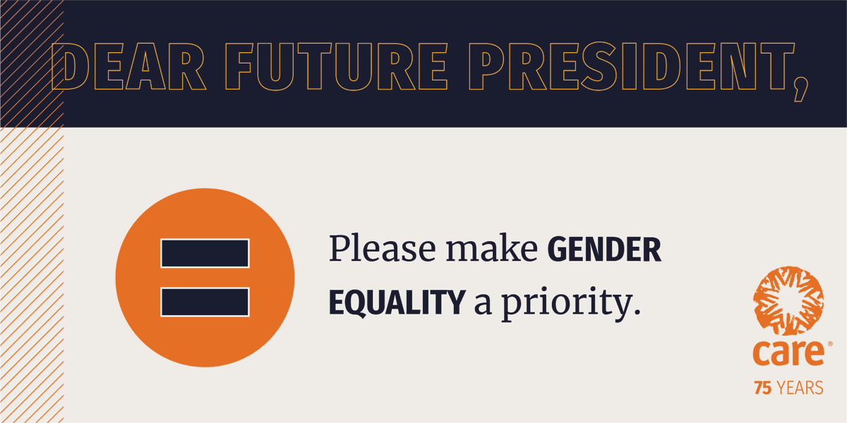 The time for gender equality is NOW. Join us in telling U.S. President-elect Biden to prioritize gender equality in decision making:  #Inauguration2021