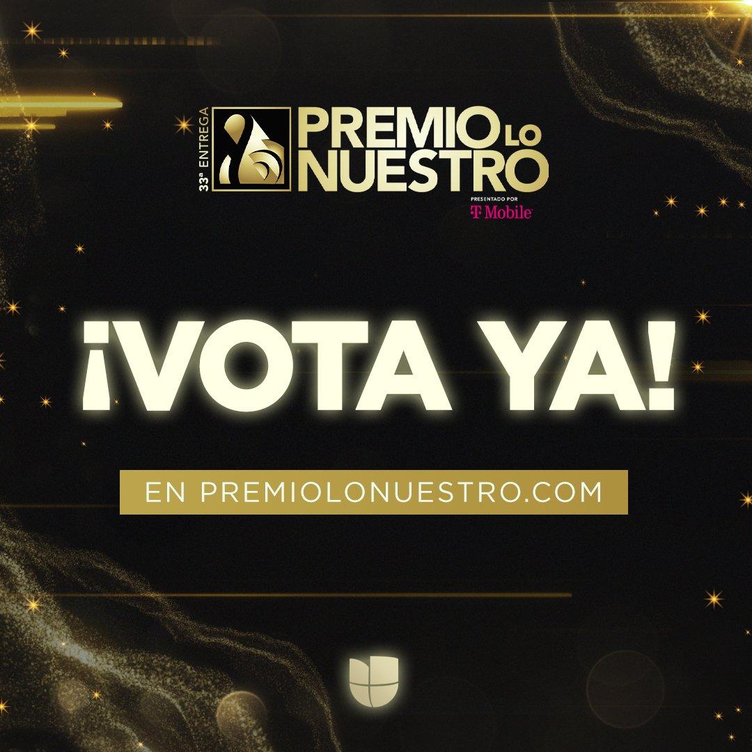 ¿Ya votaste por tus artistas favoritos en ? ✨  Recuerda que tienes hasta el 25 de enero para elegir a tus ganadores de #PremioLoNuestro.