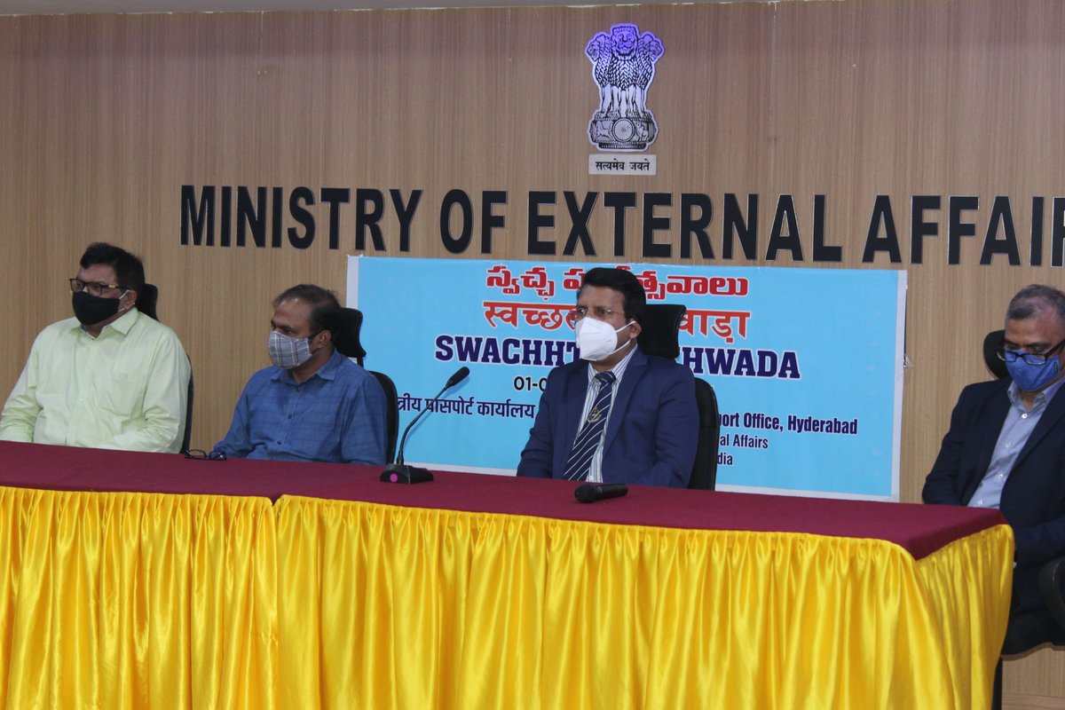 @swachhabharat Valedictory Function of Swachhata Pakhwada-2021 were organised at RPO, Hyderabad which was attended by attended by Director PoE, Director ICCR and Oficers of Branch Secretariat.
