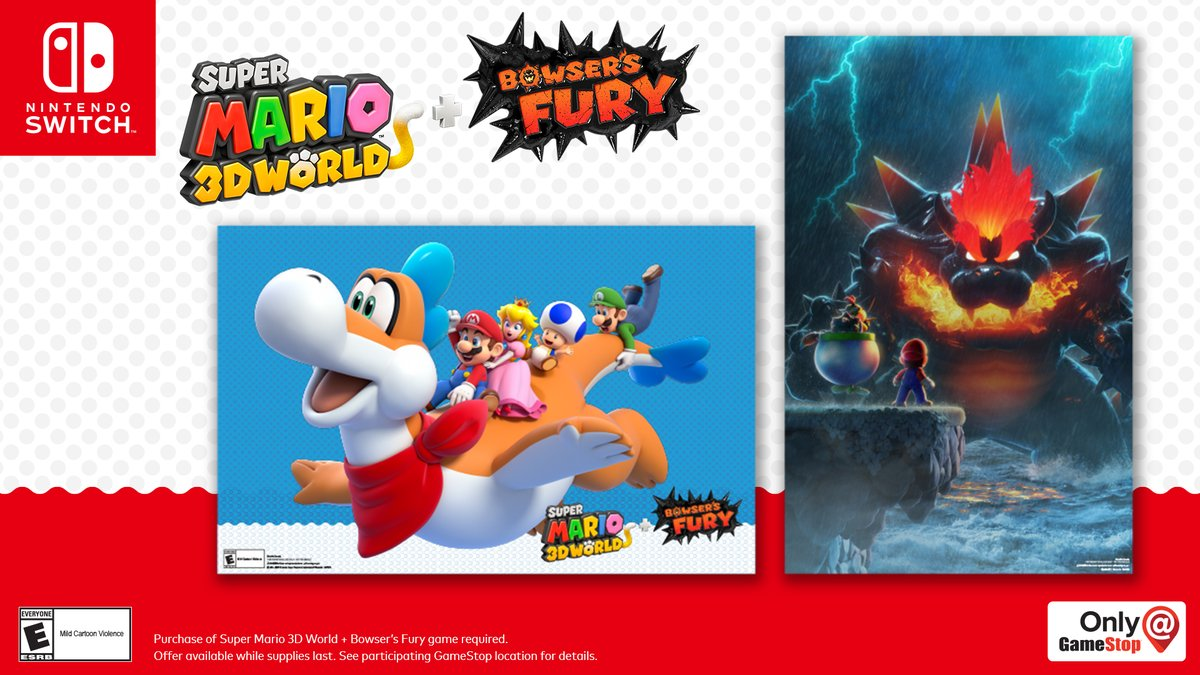 Purchase Super Mario 3D World + Bowser's Fury and get TWO posters for free!   Which one is your favorite?