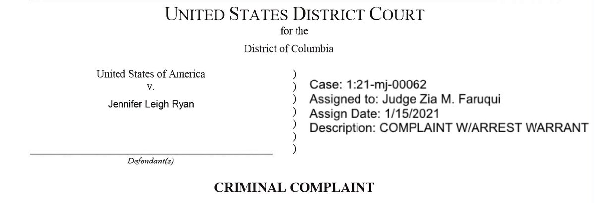 NEW: Feds charge Jenna Ryan, the real estate broker from Frisco, Texas, who flew on a private jet to storm the Capitol.   Photos of her boarding the plane included in the criminal complaint unsealed in DC today —>