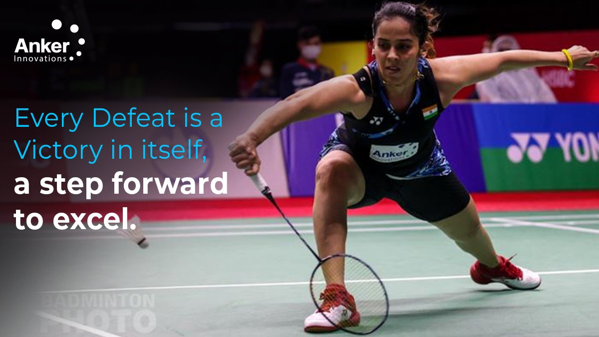 Every #Defeat is a #Victory in itself, a step forward to excel. @NSaina ❤  #AnkerInnovations #SainaNehwal #ThailandOpen #Thailandopen2020 #badminton #badmintonlovers