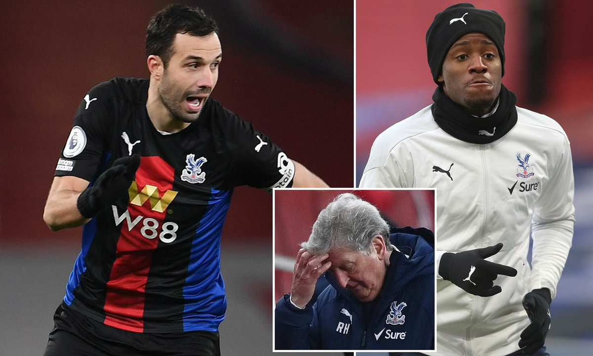 Crystal Palace skipper Luka Milivojevic and Michy Batshuayi had to be SEPARATED by team-mates in a furious training ground bust-up as they prepared to face Arsenal  [Daily Mail]  #CPFC