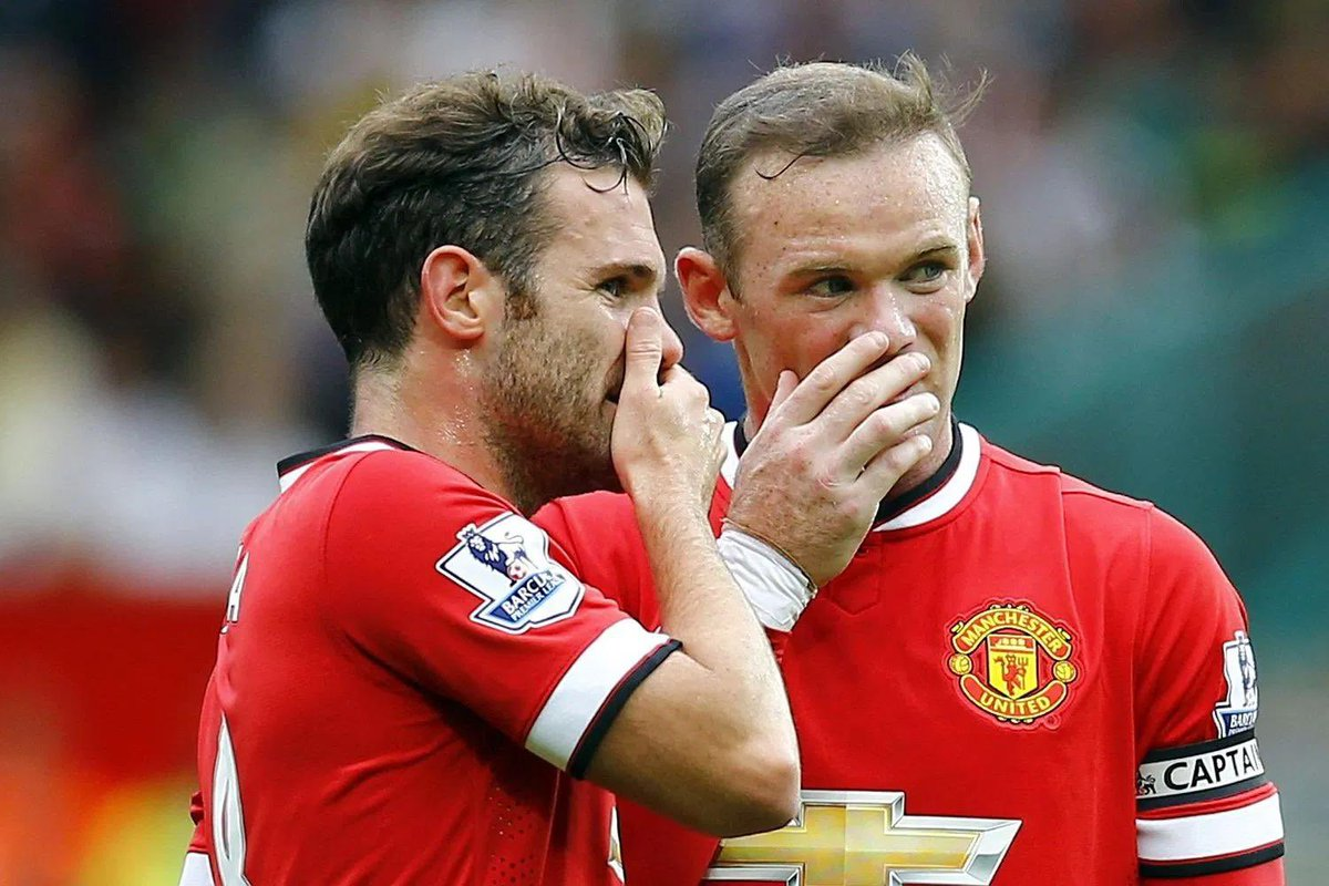 "- ""Wayne you are a LEGEND and I will always feel grateful and lucky to have played with you"".   - ""Ok Juan""  - ""No, really. Thanks for everything Wazza, I'm very proud to say that I've played with the legend himself"".   - ""Ok sure Juan, I'm taking this free kick""  - ""Mmm... ok"""