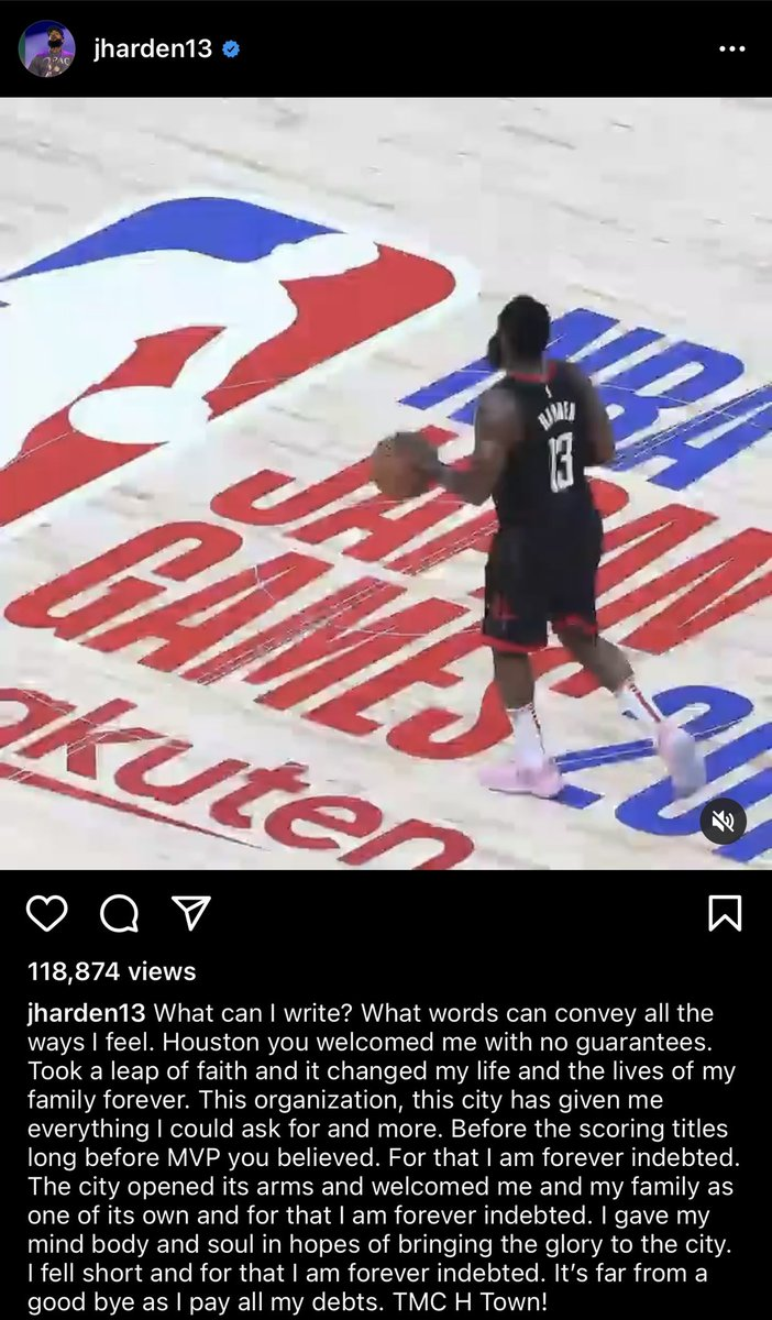 RT @TheNBACentral: James Harden says goodbye to Houston https://t.co/2j1hejTwDt