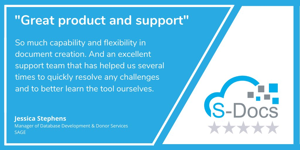 It's 5⭐ Friday! Thanks for the great review. Check out S-Docs on the #AppExchange to see what other customers are saying about our 100% native #DocumentGeneration and #eSignature solutions for #Salesforce: