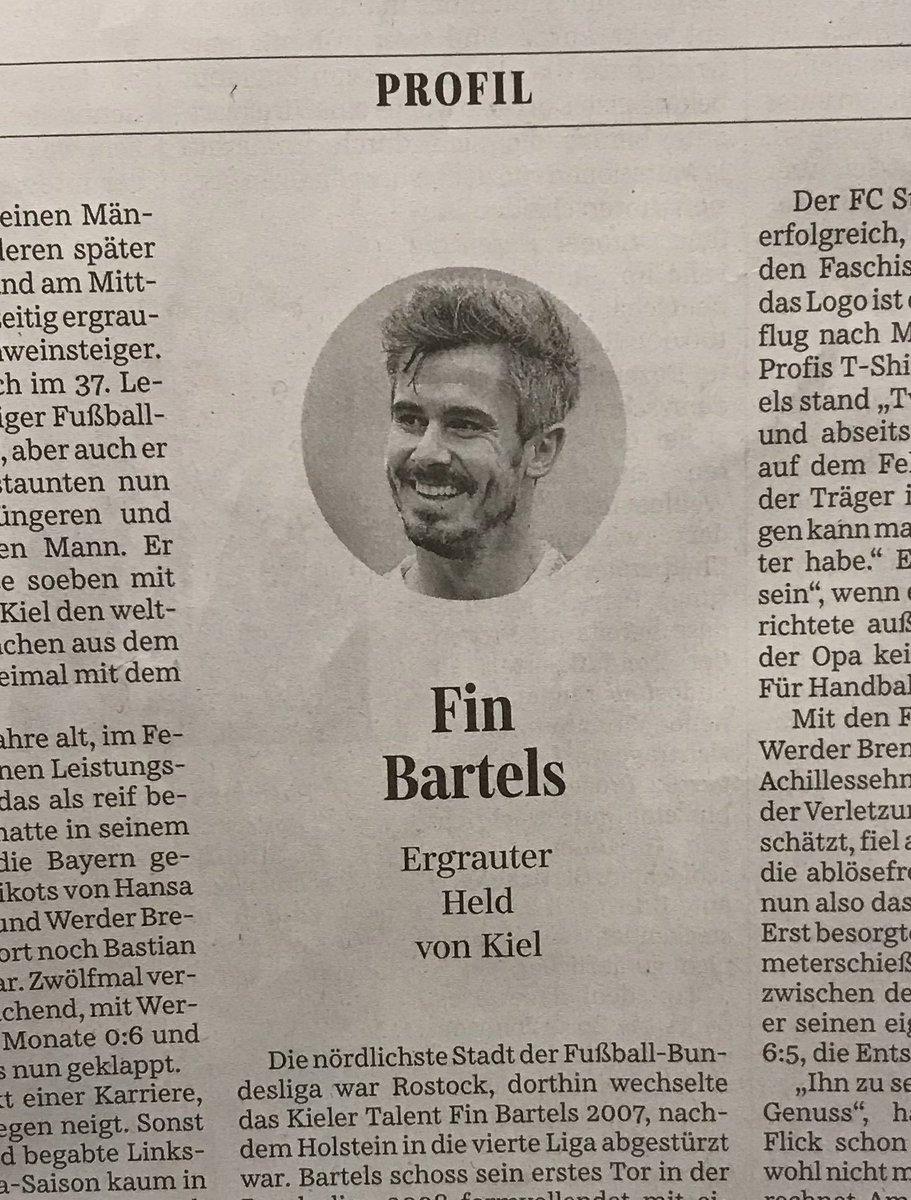 Publizistischer Adelsschlag: Fin Bartels von @Holstein_Kiel im Profil auf Seite 4 der @SZ #KSVFCB