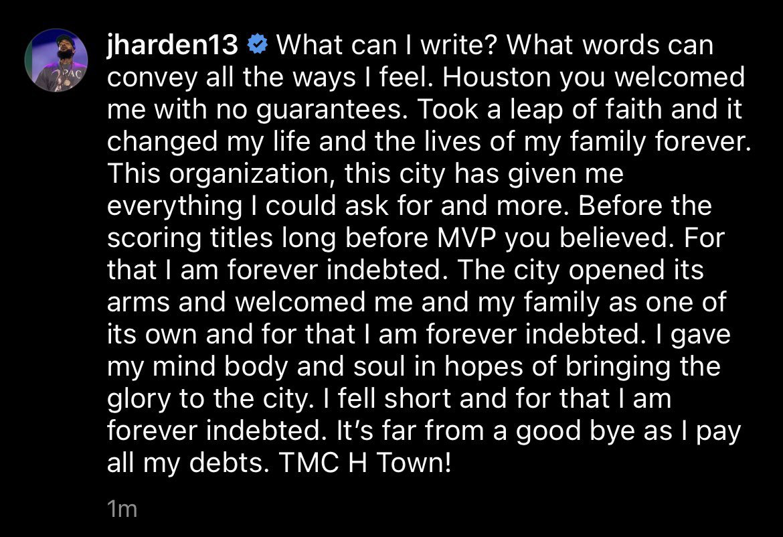 RT @DreamShakeSBN: James Harden thanks Houston https://t.co/WOpYWbfgnP