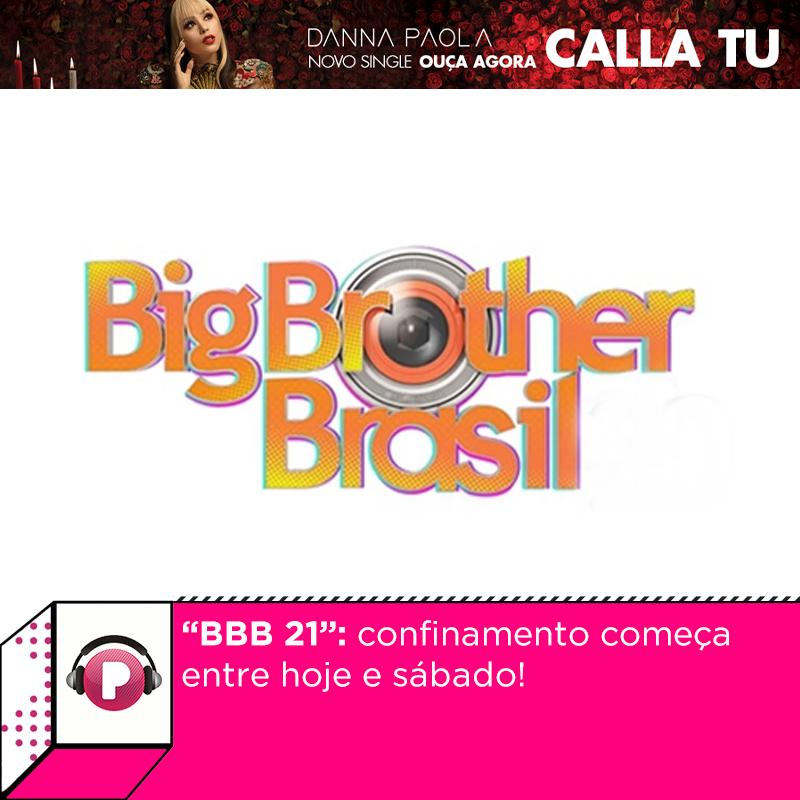 """Chegou a hora! O confinamento dos participantes do """"BBB 21"""" começa entre esta sexta e sábado em um hotel no Rio de Janeiro. Eles ficarão cerca de dez dias isolados, em quarentena! Vem saber mais informações:"""