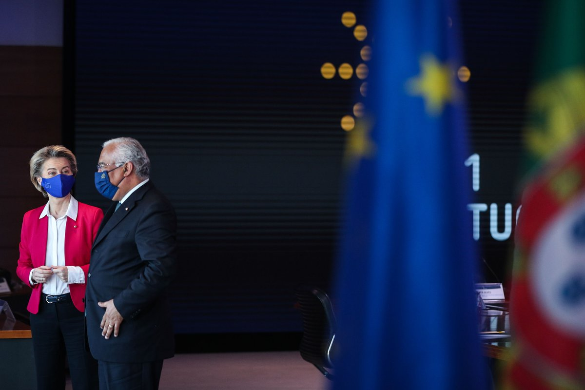 📚 Social Summit 📅 7 May 2021 📍 Porto  Portuguese Prime Minister @antoniocostapm and President @vonderleyen will discuss with EU leaders and social partners how to strengthen Europe's social dimension.  More:  #SocialRights #EU2021PT