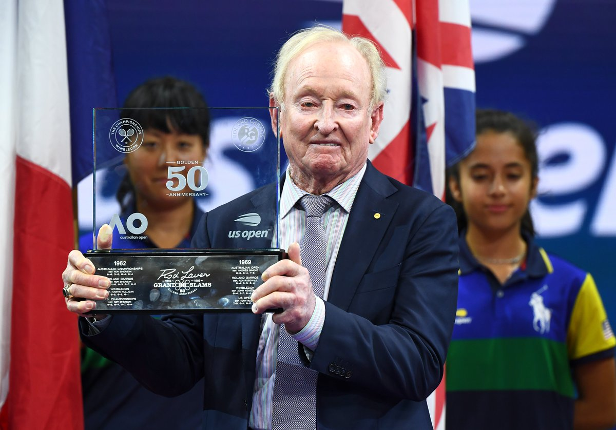 The beginning of history!  On this date in 1962, Rod Laver won the first leg of his Grand Slam at the @AustralianOpen.