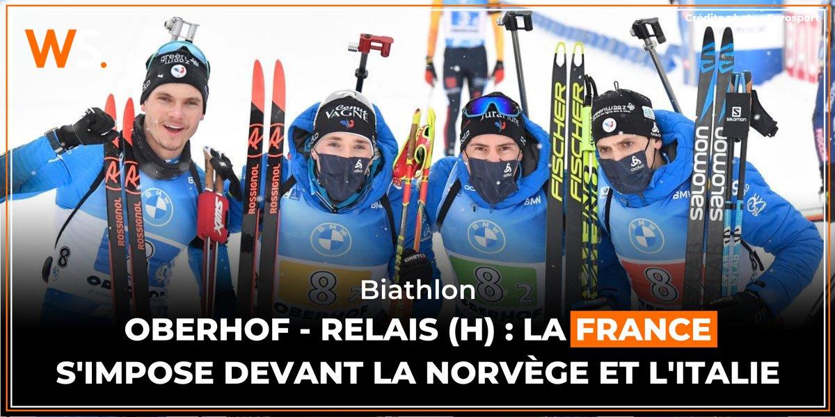 🇫🇷 Première victoire pour le relais français masculin sur le site d'Oberhof (Allemagne), malgré une belle remontée Norvégienne !  Le résumé de la course 👉 https://t.co/EuPFXtOLdx  #biathlon #lequipeBIATHLON https://t.co/5zdUVyzFr9