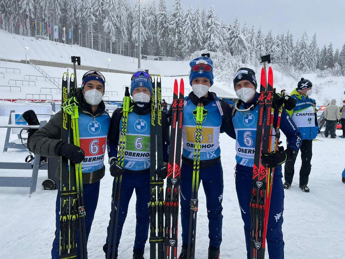 Un terzo posto da far brillare gli occhi quello conquistato dai ragazzi della staffetta maschile di #biathlon sulle complicate nevi di #obe21 🤩  #staffetta #oberhof #scinordico  https://t.co/NkaxFKA5b5 https://t.co/qBR9hxT5Ij