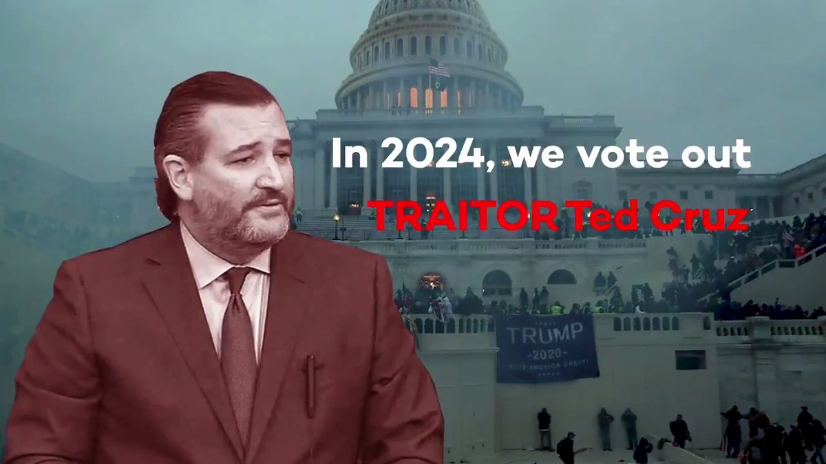 Ted Cruz should be expelled from the Senate for inciting a violent insurrection.   If he doesn't have the decency to resign, Texans have the power to vote him out in 2024.  Join the movement: