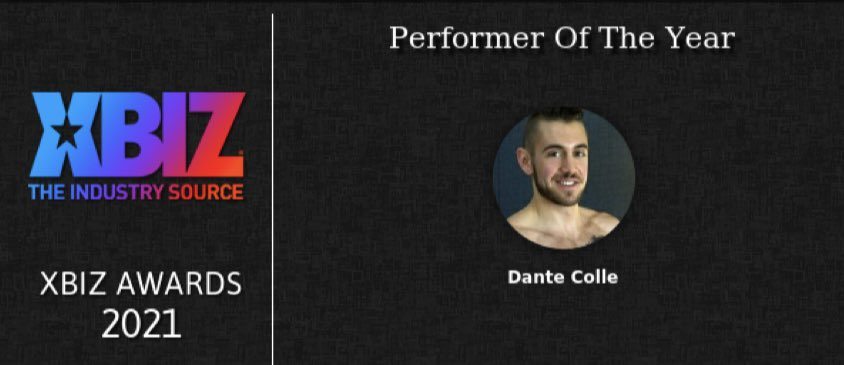 Congratulations @Dante_Colle , Awarded First-Ever, All-Inclusive @XBIZ Performer of the Year 2021! I had the pleasure to Interview Dante for @XCritic , thanks to Erika Icon at @TheRubPR , @Kayden_Kross & Everyone Else Involved! Check Out The Link >>>> xcritic.com/columns/column…