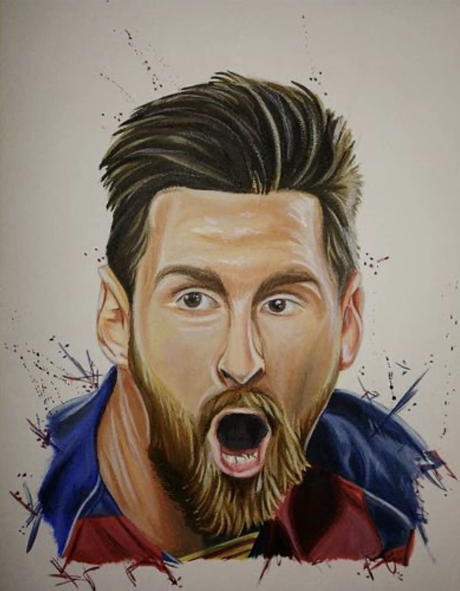 Here is my painting of Leo Messi!🐐🐐🐐🐐 Would really appreciate the support on my instagram account : Ryan_edwards_art7  Gracias a todos!!💙❤️💙❤️  #messi #Barcelona #FCBarcelona  @FCBarcelona @FCBNewsRoom