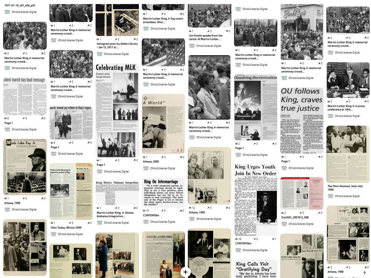 #OTD in 1929 Civil Rights activist Dr. Martin Luther King Jr was born. We celebrate his birthday on 3rd Monday in Jan. @Ohiou has celebrated #MLKDay for years & this #OHIOUniversityArchives pinboard surveys the celebration over time https://t.co/Q0gnzoUmfd #MLKDay2021 https://t.co/1trop5YWk9