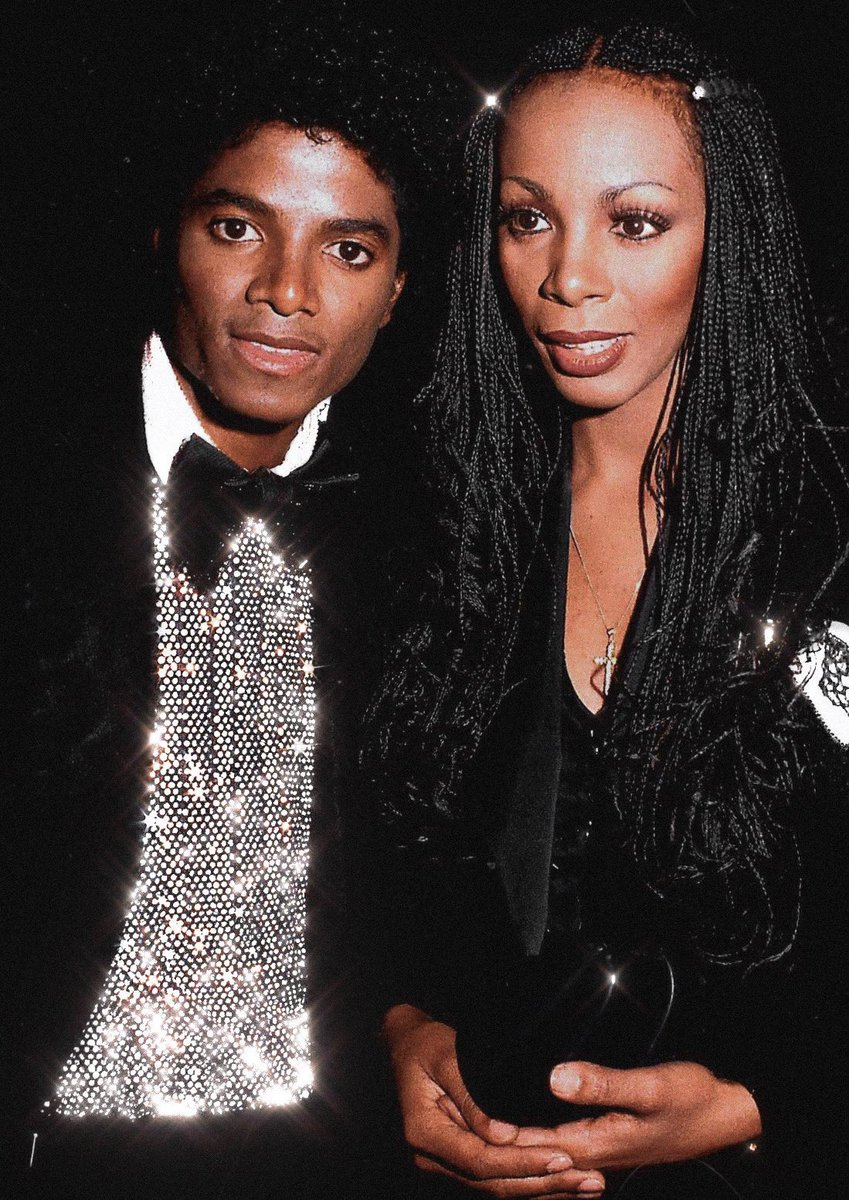 Michael & Donna Summer at the American Music Awards, 1980.✨🖤
