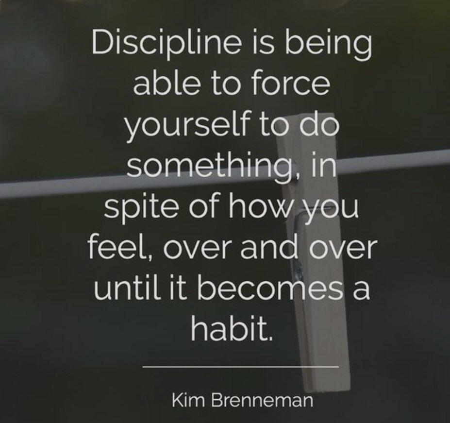 Discipline is ...   Yes!!!   Agree ?!?   #motivationalquotes #lifequotes #smallbusiness #lasocialbutterfly #lkn #clt #socialmediaconsultant  Follow @lasocialbttrfly https://t.co/78sGCSdFht