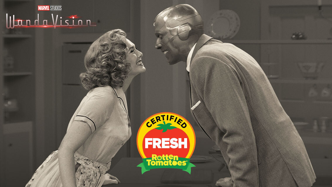 #WandaVision is now #CertifiedFresh at 94% on the #Tomatometer, with 97 reviews:   - RottenTomatoes