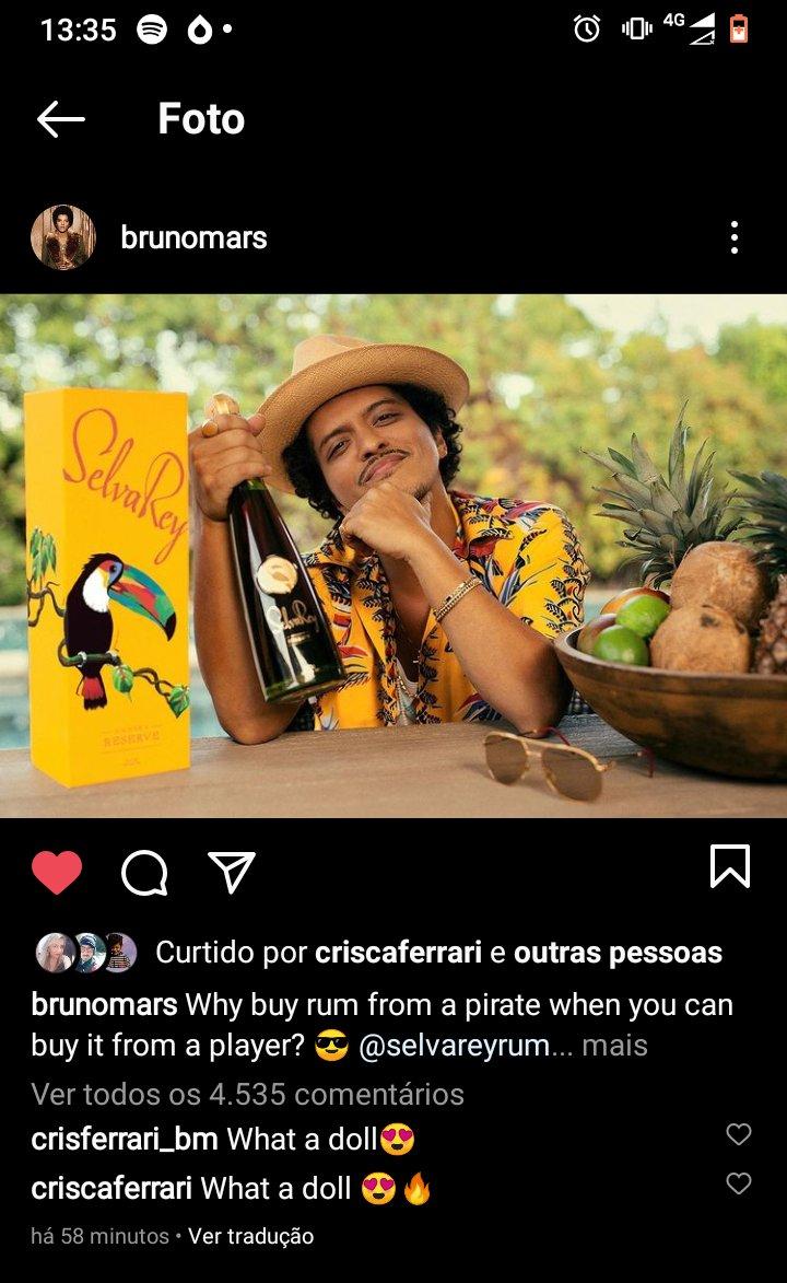 #selvareyrum #TropicalLuxury  @BrunoMars @SelvaReyRum  Combinação perfeita 🥃🔥😉