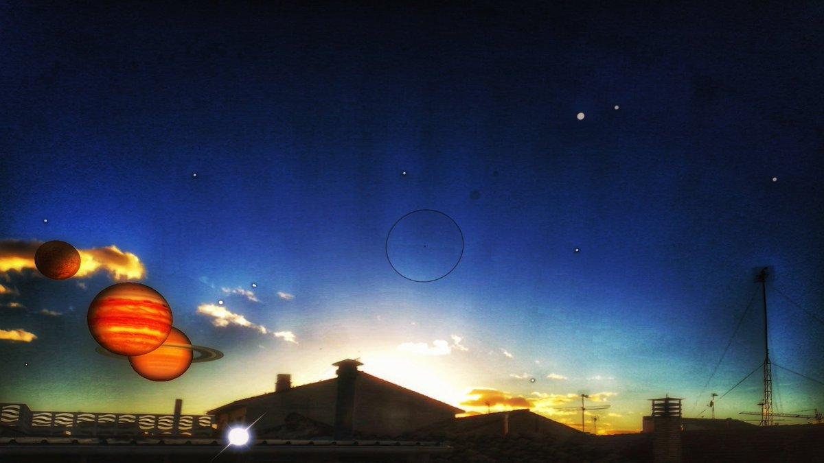 Mercurio, Júpiter y Saturno ... . .   #foto #pic #pics #picoftheday #ocaso #cielos #nuvole #saturn #nature #landscapephotography #azul #blue #sunset  #sun #sol #fotografia  #cielo #sky #tramonto  #photooftheday #instagram #nubes #cloudscape #puestadesol #mercury #jupiter