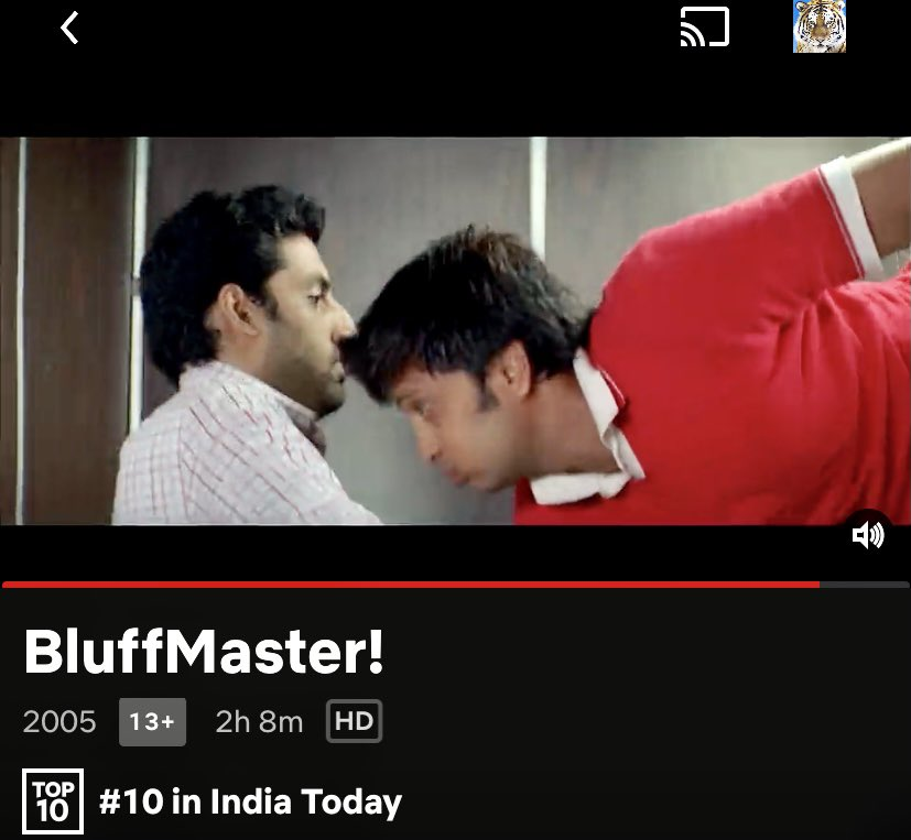 Look what I found on @NetflixIndia top 10 @juniorbachchan @Riteishd