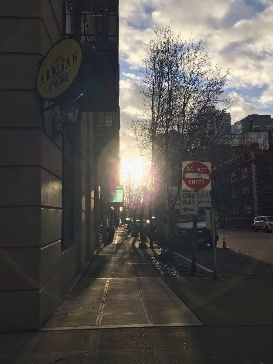 #sun #winter #seattle photo from phone