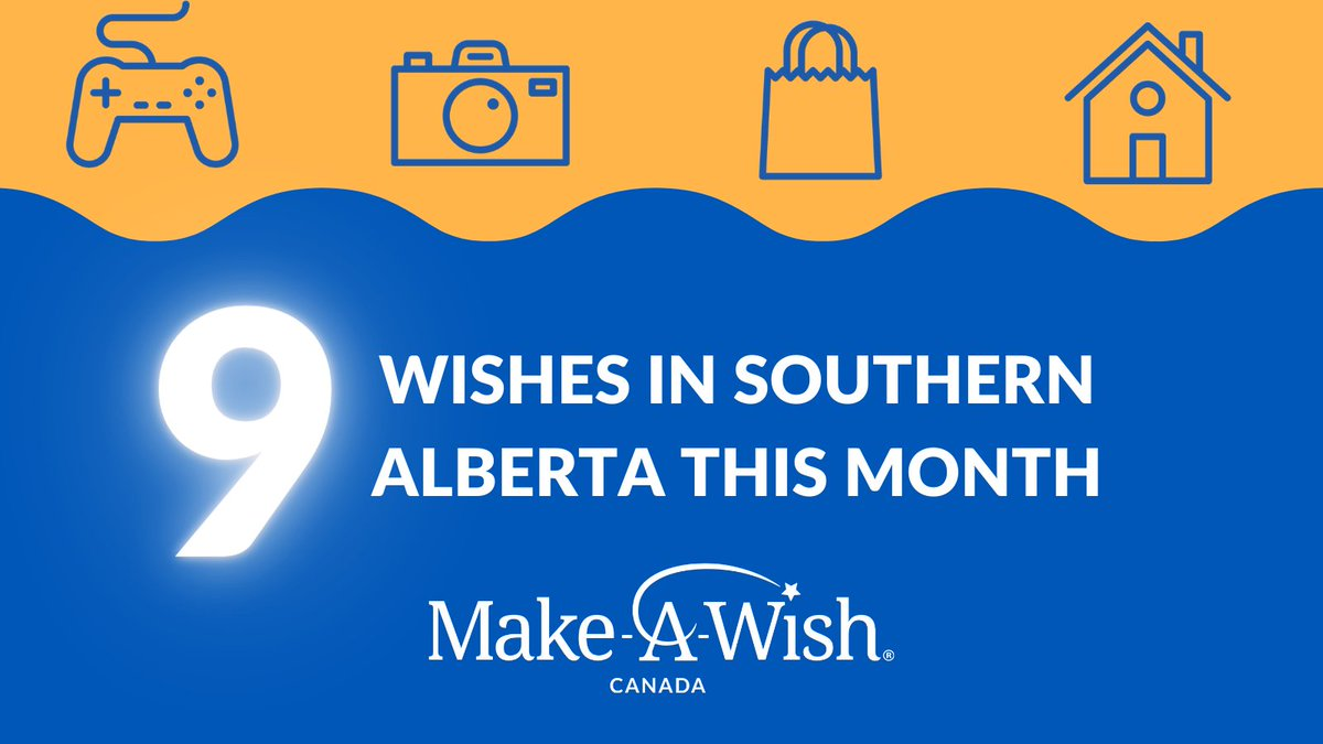We are granting 9 wishes in #southernalberta in Jan!  Camera equip., a bedroom redo, shopping sprees, gaming systems, a swim spa and a camping trailer. Each wish brings resilience & hope to a child battling illness.  Donate today at . #yyc #calgary #alberta