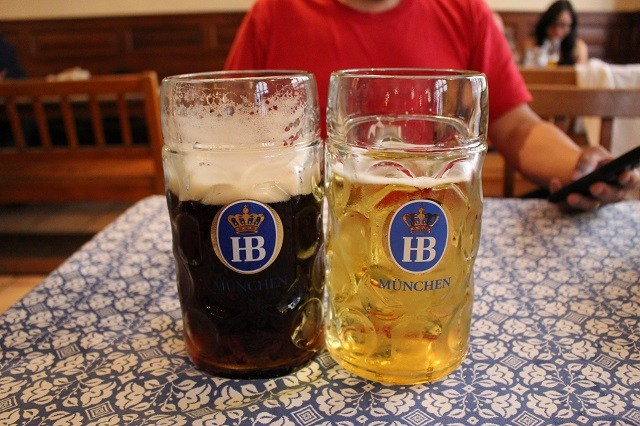 Had an amazing time at @HofbraeuhausMUC  #Munich. Look how big those beers are, lol.   Read more on my post. #Blogboost #germany #hofbrauhaus #Beer #BeerHall #Prost #travel #blogger #Blogger #followback #like4like #follow #followme #f4f #follows #comment