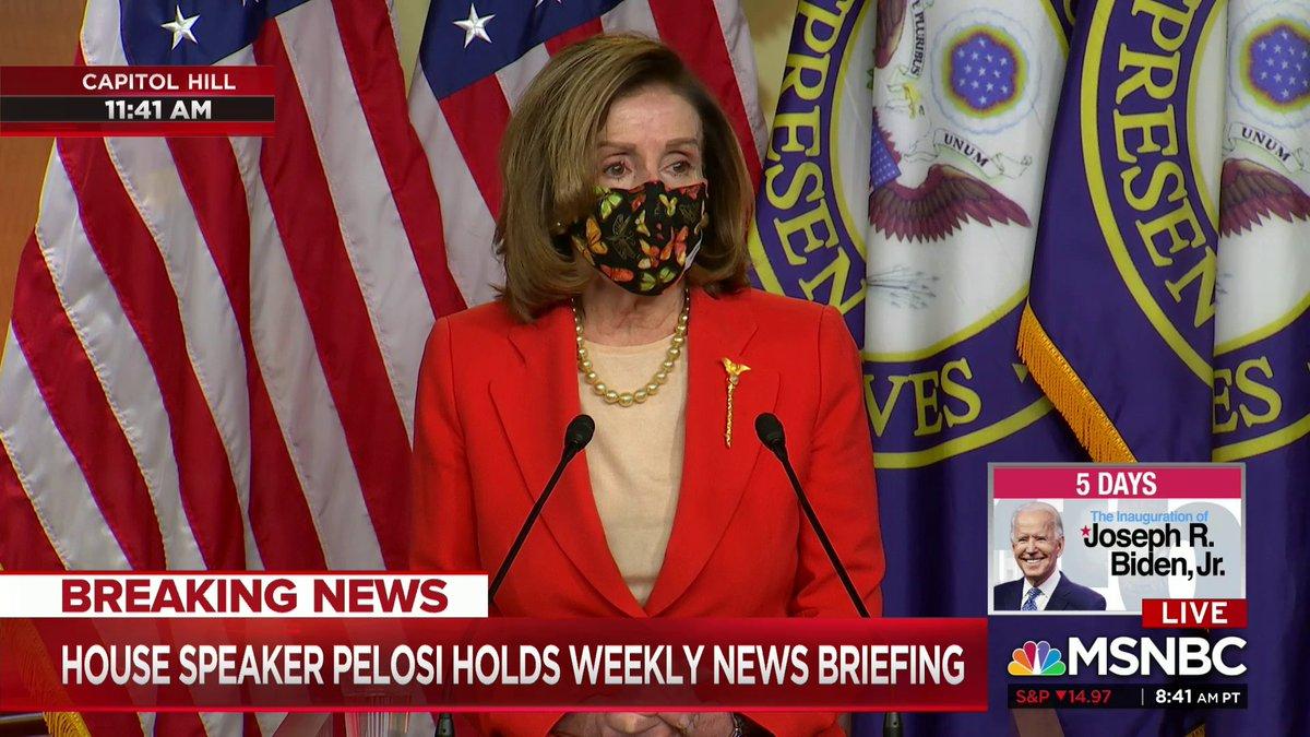 Live now on @MSNBC: Speaker Pelosi