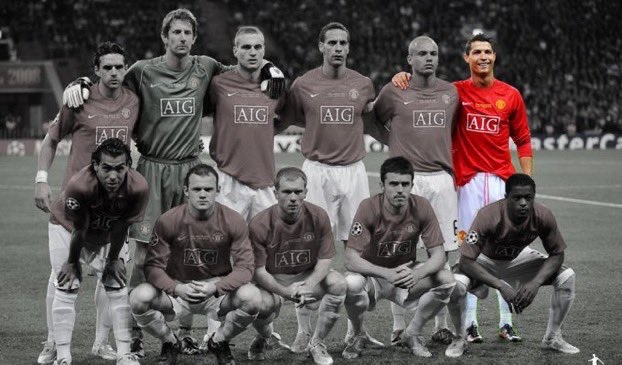 Ronaldo is the only active player from this historic Manchester United squad.
