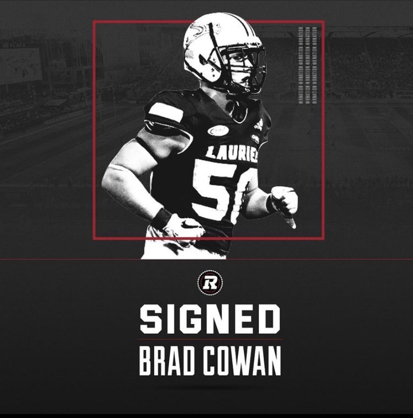 @LaurierFootball Alumni Brad Cowan staying in his hometown. Officially signed to the @REDBLACKS 🔒✍🏾🏈 @Empire_MGMT  . . . #cfl #football #canada #draft #linebacker #ottawa #hometown #signed #proud #agent #empire #family #rookie #athlete