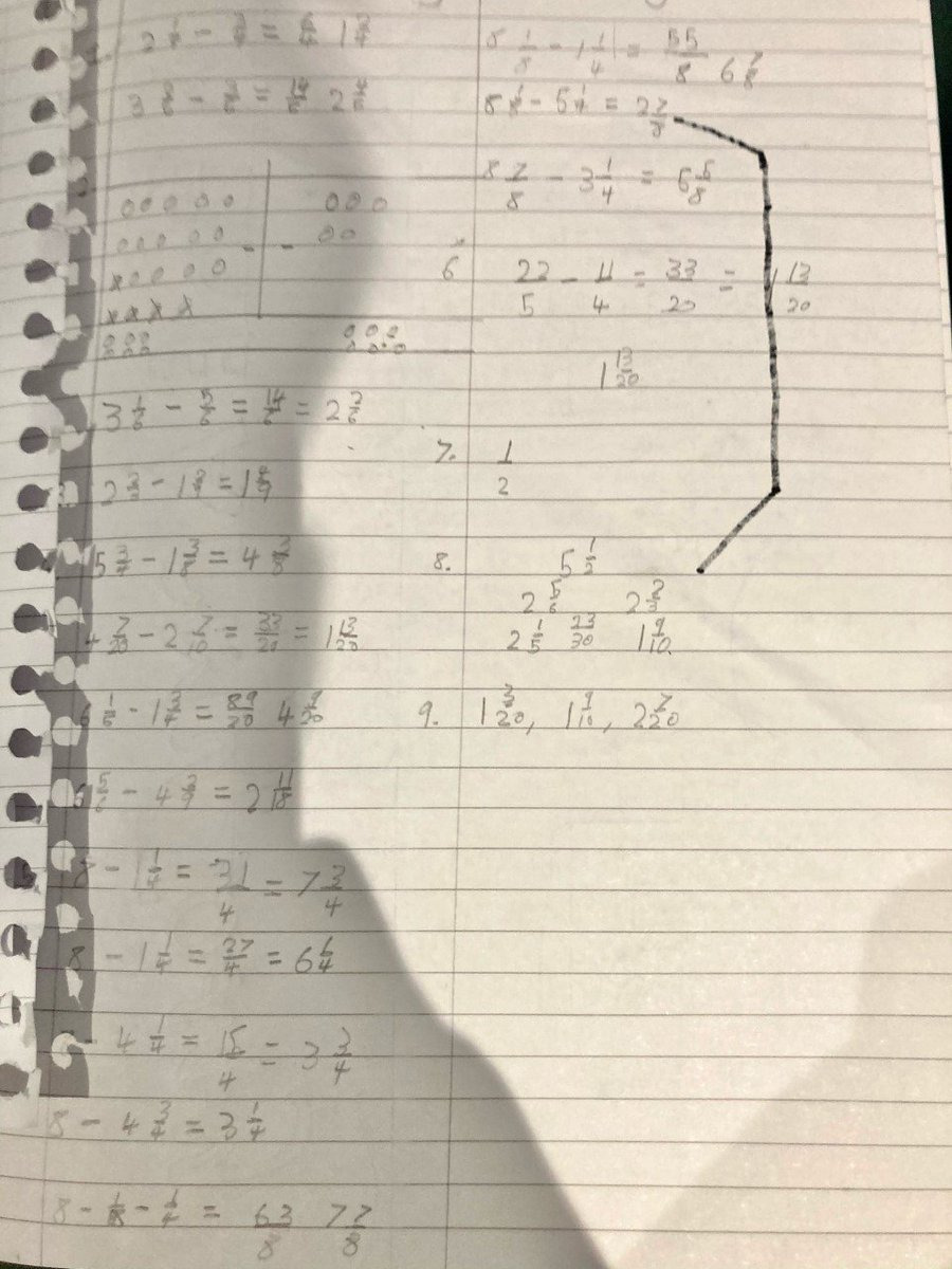 Maddox has secured his knowledge of subtracting fractions from mixed numbers. #Year6 #Proud #MissI