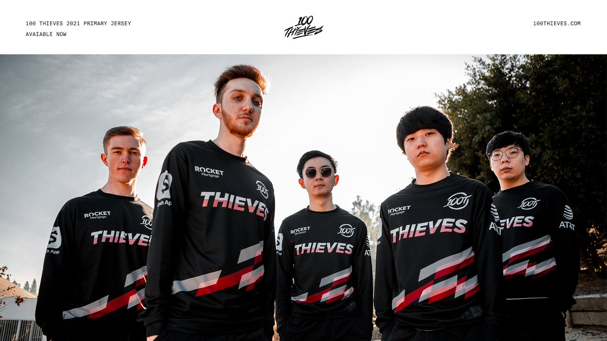 Replying to @100Thieves: 100 Thieves 2021 Primary Jersey Available Now
