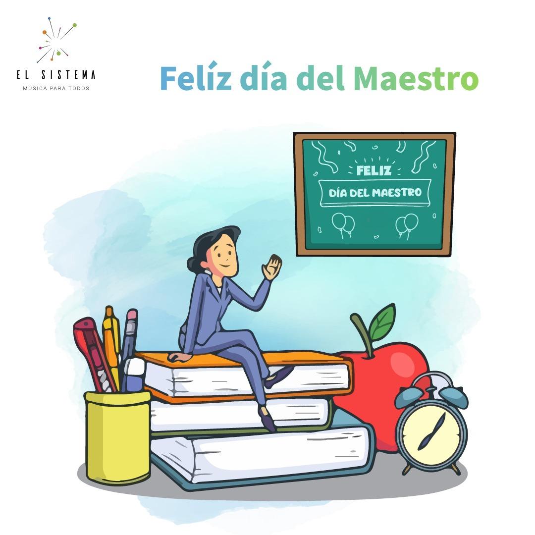 Hoy #15Ene desde el #NucleoSanVicente #Maracay felicitamos a todos los Maestros y Docentes en su día.  #GraciasMaestro #FelizDiaDelMaestro #SomosElSistema #MusicaParaTodos #15deEnero #MaestrosDeLaPatria