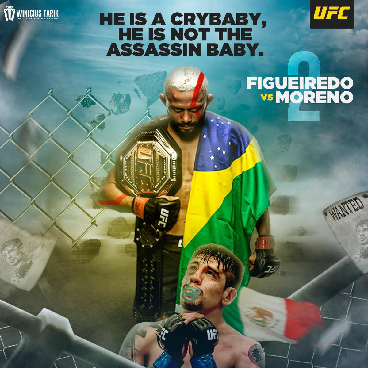 Breno Moreno  @theassassinbaby you are a cry baby, not a assain baby, I can still hear you groaning and whining every time my fists pounded your body.  I'm training to tear your head 😈 @danawhite @Mickmaynard2 @ufc https://t.co/Pew6BnyvPj