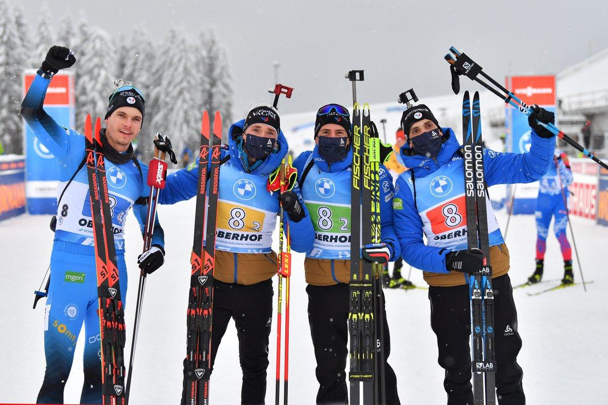 Biathlon : l'équipe de France masculine remporte le relais d'Oberhof 👏  https://t.co/73RX4MeU4Q https://t.co/dvicExWwZL