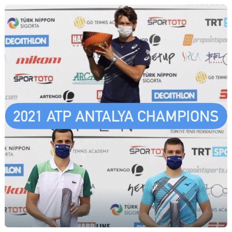 2021 ATP ANTALYA CHAMPIONS  Singles - Alex De Minaur  Doubles - Nikola Mektic & Mate Pavic  🇹🇷🏆  (📸 - Antalya Open)  #ATPTour #AntalyaOpen https://t.co/JFb0Wrrg8C