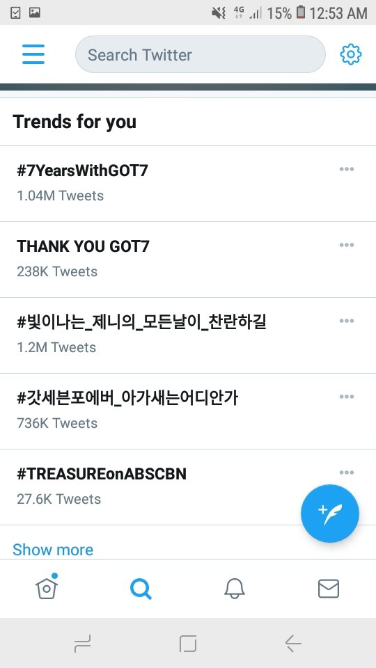 We're trending in the Philippines!!! Twitter party it is, Ahgases!!! 👏 #7YearsWithGOT7 #7YearsWithIGOT7  @GOT7Official