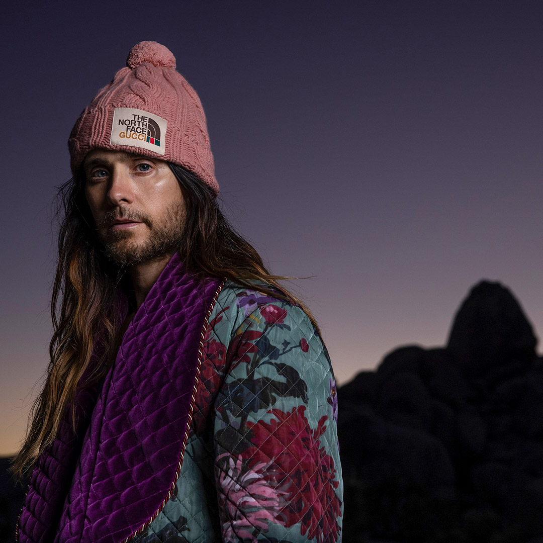 Photographed by @jimkchin, @jaredleto wears pieces from #TheNorthFacexGucci collection. The images appear in three articles from @sidetrackedmag. Tune in on Instagram listen to #JaredLeto and #JimmyChin on our live at 8pm CET. @thenorthface