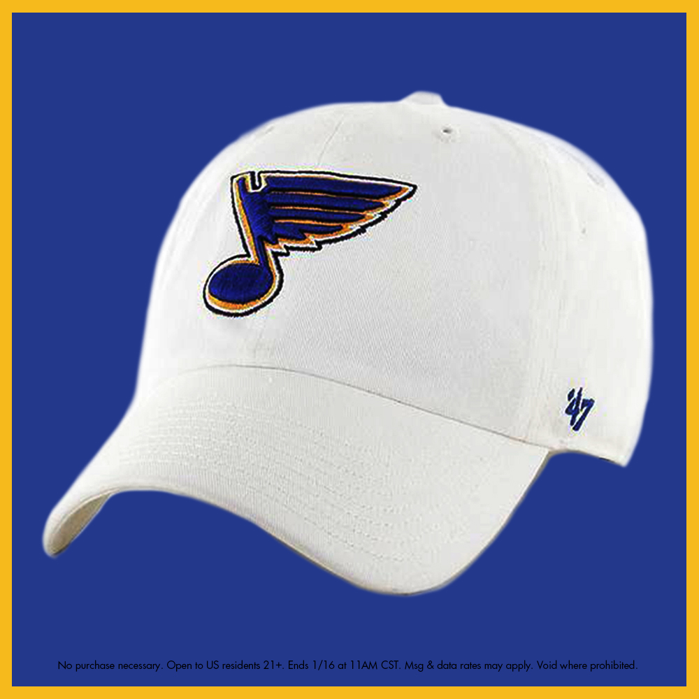 GIVEAWAY ALERT 👀  Calling all Blues fans! It's #NationalHatDay, so we're giving YOU a chance to win this '47 Clean Up hat. RT and follow to enter.  #STLBlues