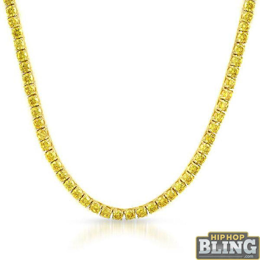 .925 Silver Canary CZ Gold 3MM Tennis Chain Bling Bling!Shine With  #hiphop #hiphopbling #bling #model #photooftheday #instagood #nofilter #tbt #igers #picoftheday #love #nature #swag #lifeisgood #caseofthemondays