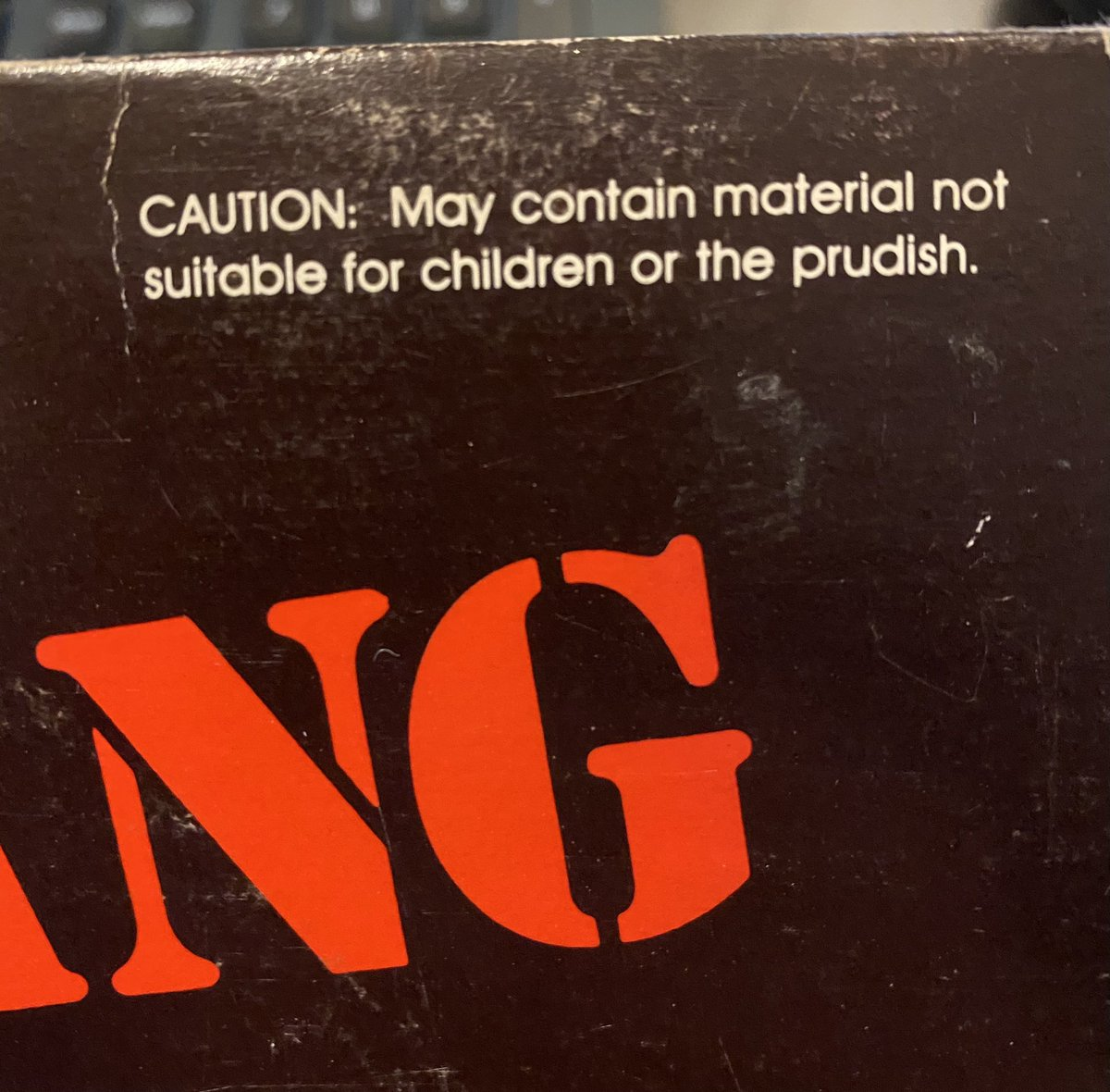 Continuing our series of record company warnings on record sleeves.   This actually works for the #VinylCollective as a whole!  I'm playing it tonight. We're live at 6pm on @BBCRadioScot and @BBCSounds!  #FridayNightIsVinylNight #GrantStottsVinylCollective #NotForThePrudish