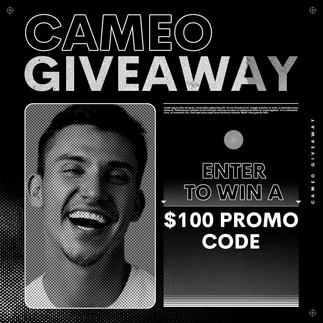 #GIVEAWAY! 🤩 Take a break from scrolling TikTok and enter this giveaway for a $100 promo code.⁠ ⁠ How to enter:⁠ ⇢ Follow @BookCameo + fav this tweet ⇢ RT w/ #CameoSweepstakes⁠ & #FridayFeeling  No purchase necessary - see full rules:  ⁠