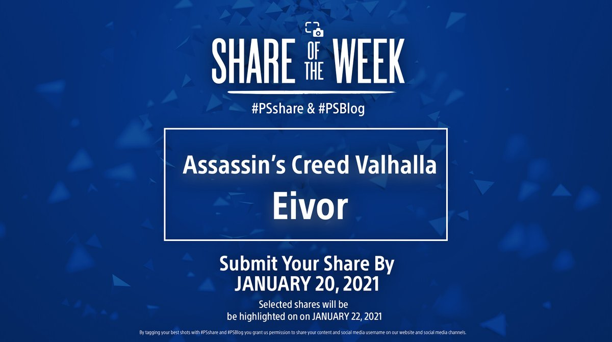 Next week, we're staying in the realm of Assassin's Creed Valhalla and focusing our Odin's sight on Eivor. Share portraits or detailed shots of your viking hero using #PSshare #PSBlog for a chance to be featured.
