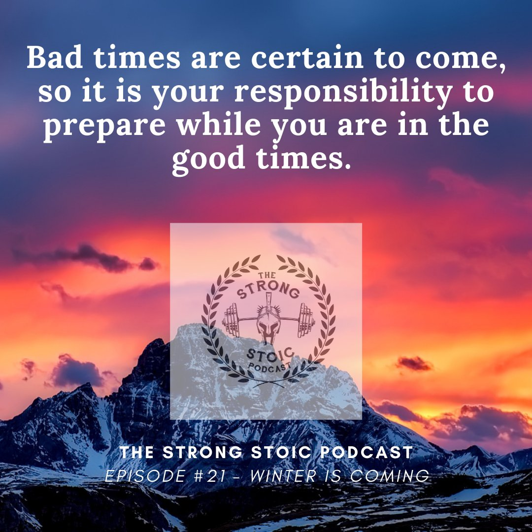 Don't forget! . #covid #pandemic #goodtimes #badtimes #winteriscoming #prepare #beresponsible #bestrong #podcast #podcasts #theflood #thefloodiscoming