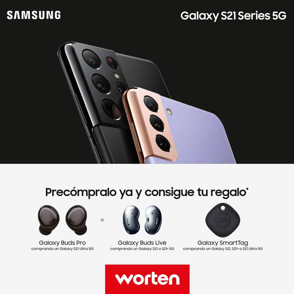 ¡Ya puedes precomprar el nuevo @SamsungEspana #SamsungGalaxyS21 en #WortenES y conseguir tus #GalaxyBuds y #GalaxySmartTag  de regalo! 🙌
