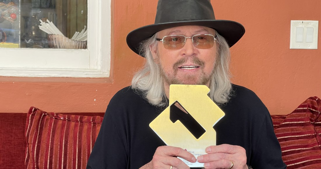 """You've changed my life"" - Barry Gibb (@GibbBarry) earns his first solo Number 1 album with Greenfields: The Gibb Brothers' Songbook (Vol. 1) 🎉"